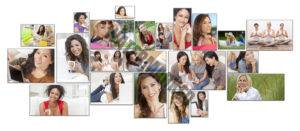 photos of various moms, daughters, and others who can benefit from hypnosis for women
