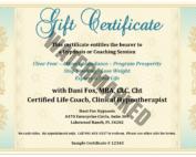 dani fox hypnotist gift certificate